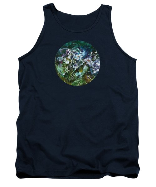 Tank Top featuring the painting Sparkle In The Shade by Mary Wolf