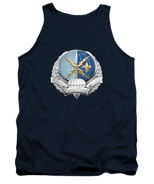 Special Operations Weather Team -  S O W T  Badge Over Blue Velvet Tank Top by Serge Averbukh