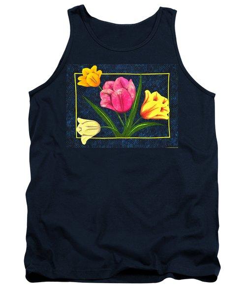 Splash Of Tulips Tank Top