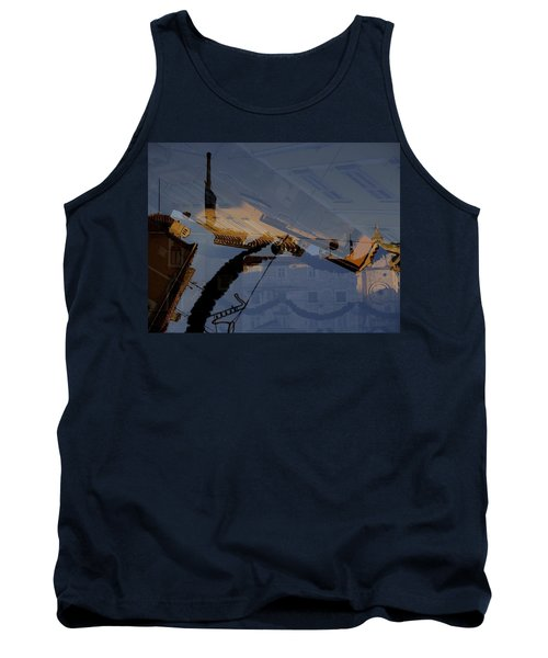 Tank Top featuring the photograph Split Roofs by Danica Radman