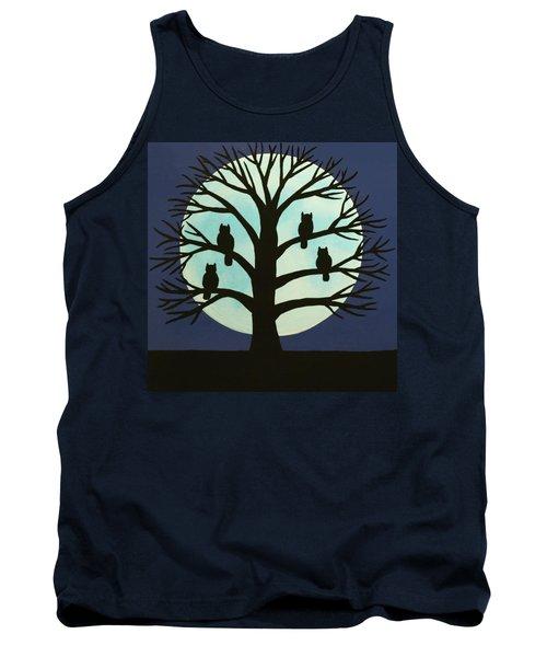 Spooky Owl Tree Tank Top