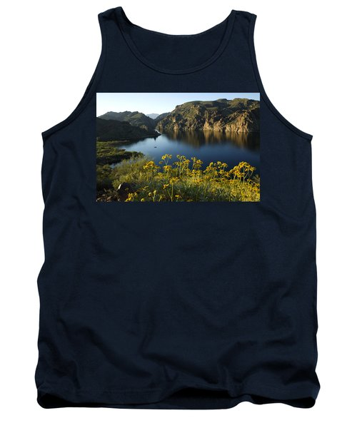 Spring Morning At The Lake Tank Top