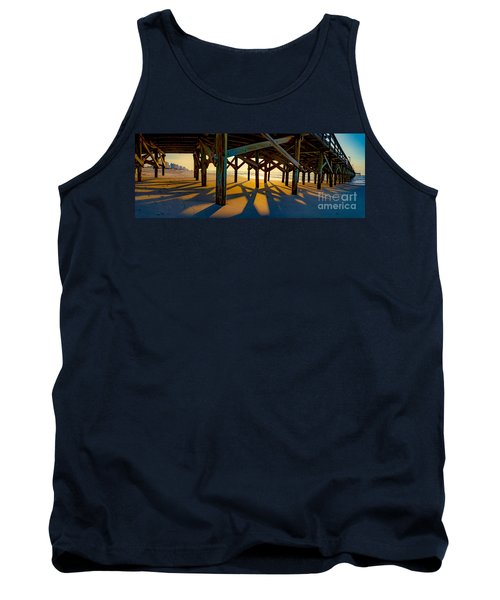 Springmaid Pier At Sunrise Tank Top