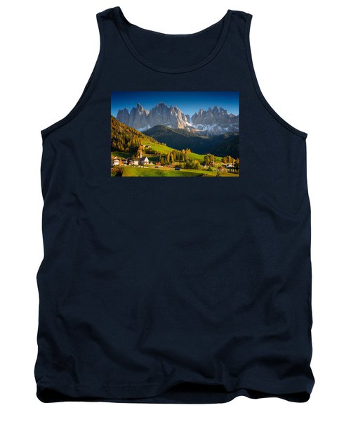 St. Magdalena Alpine Village In Autumn Tank Top by IPics Photography