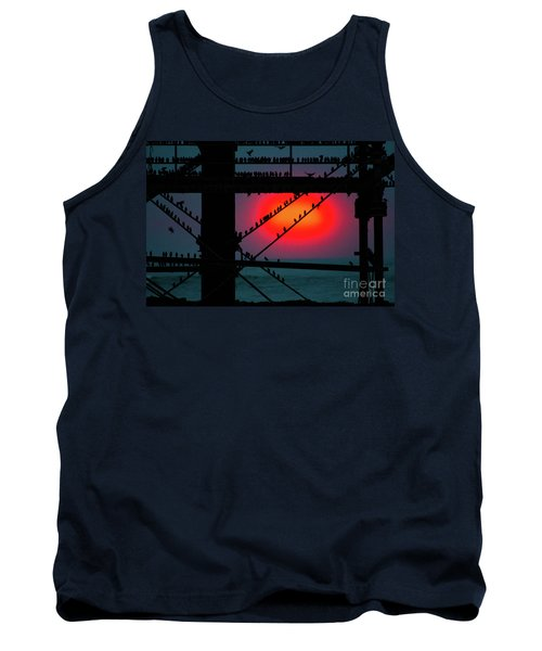 Starlings Against The Setting Sun Tank Top