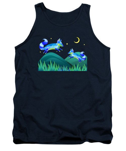 Starlit Foxes Tank Top by Little Bunny Sunshine