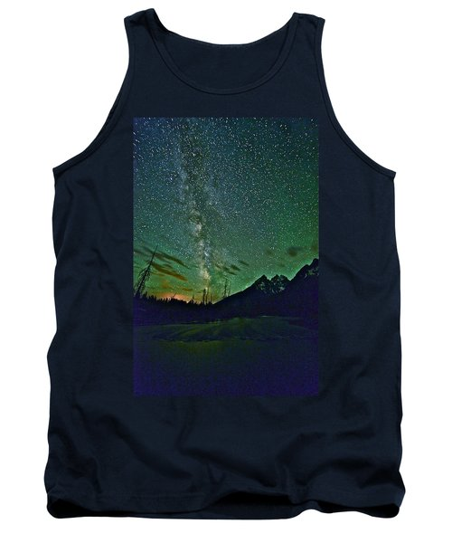 Starry Night Over The Tetons Tank Top