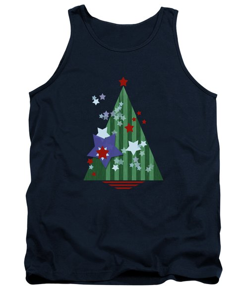 Stars And Stripes - Christmas Edition Tank Top by AugenWerk Susann Serfezi