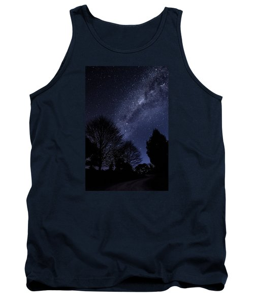 Stars And Trees Tank Top by Martin Capek