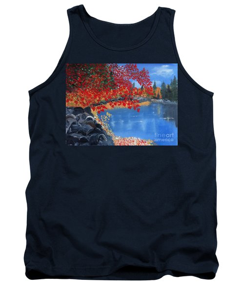Start Of Fall Tank Top by Rod Jellison