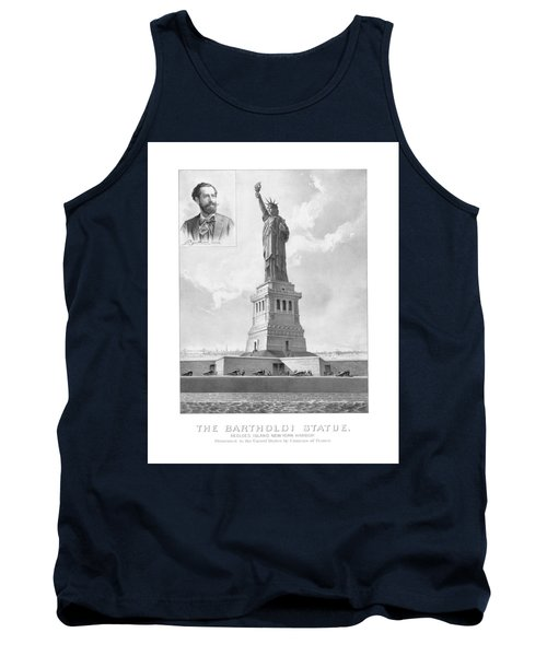 Statue Of Liberty And Bartholdi Portrait Tank Top