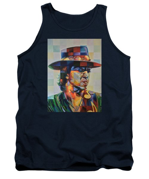 Stevie Ray Vaughan Tank Top by Steve Hunter