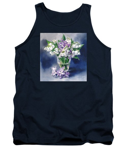 Still Life With Lilacs And Lilies Of The Valley Tank Top by Sergey Lukashin