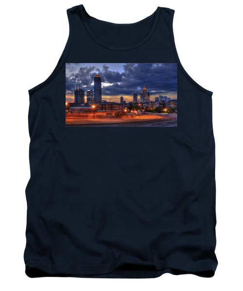 Street Lights At Atlantic Station Sunrise Tank Top