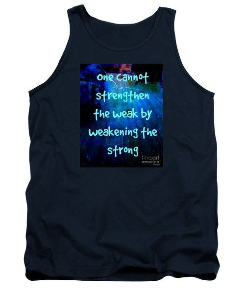 Tank Top featuring the mixed media Strength V Weakness by Leanne Seymour