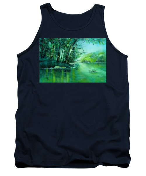 Summer Evening At The River Rhine Tank Top