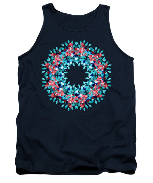 Summer Wreath Tank Top by Mary Machare