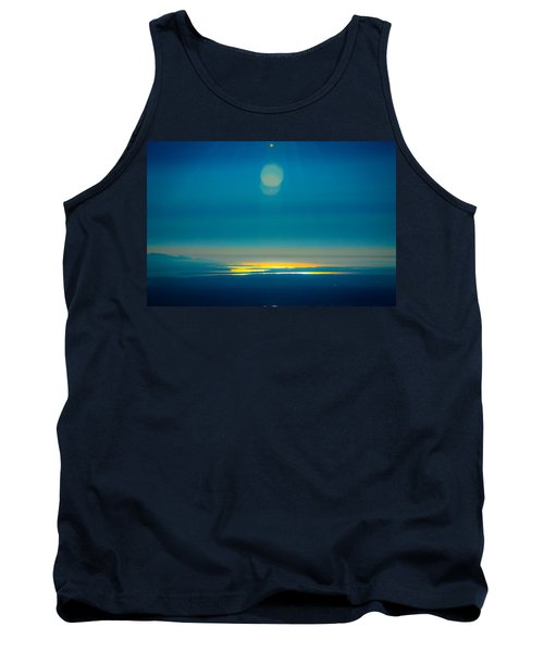 Sun Going Down On The Sound Tank Top