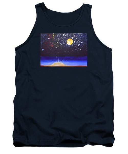 Sun Moon And Stars Tank Top by Donna Blossom