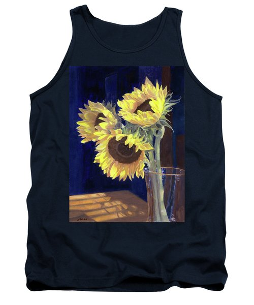Sunflowers And Light Tank Top