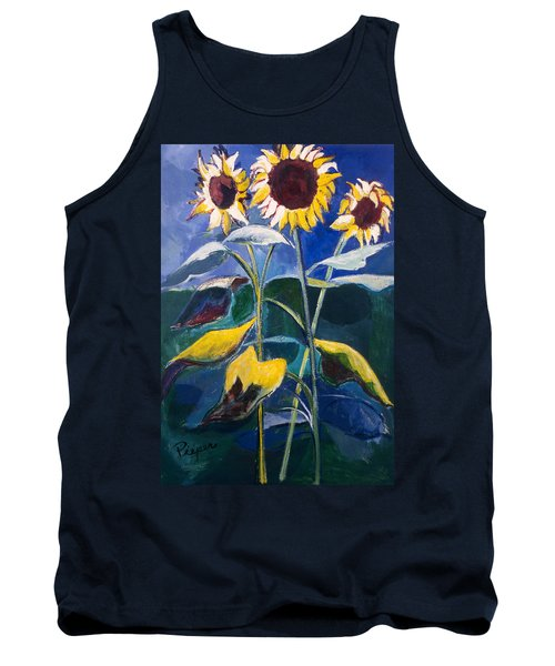 Sunflowers Standing Tall Tank Top by Betty Pieper