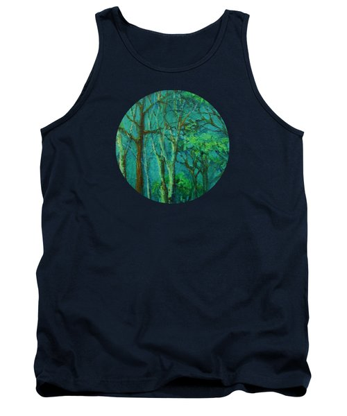Sunlit Woodland Path Tank Top