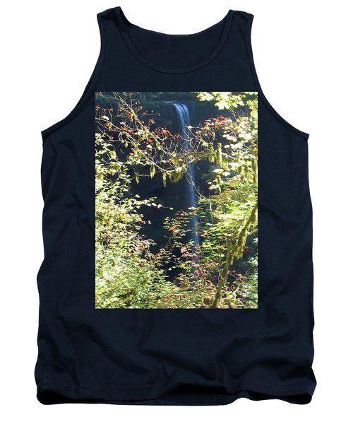 Tank Top featuring the photograph Sunlite Silver Falls by Thomas J Herring