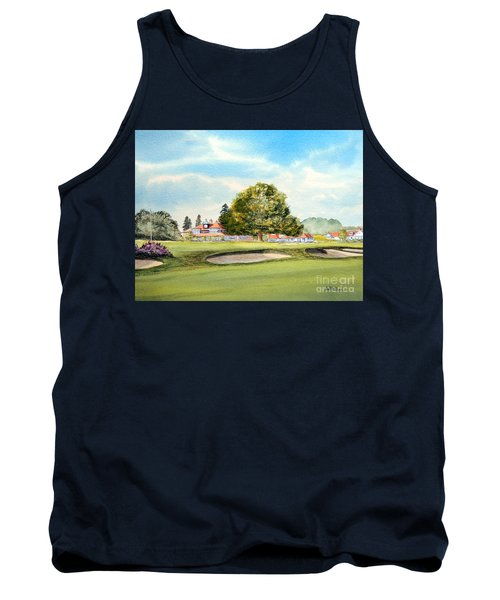 Tank Top featuring the painting Sunningdale Golf Course 18th Green by Bill Holkham