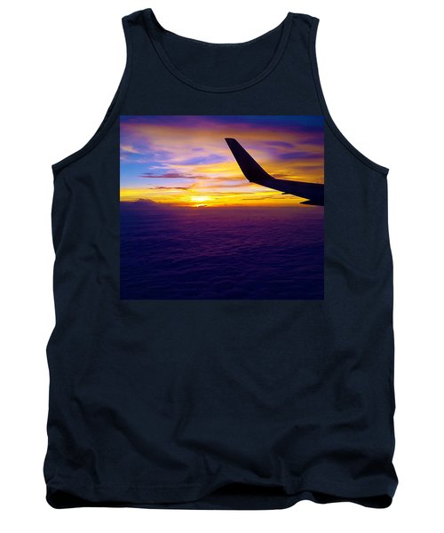 Sunrise Above The Clouds Tank Top by Judi Saunders