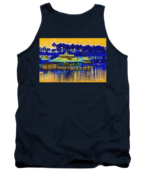 Sunrise At The Boat Dock Tank Top by Kirt Tisdale