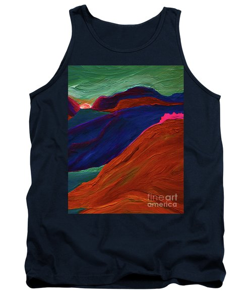 Tank Top featuring the painting Sunrise Castle 2  by First Star Art