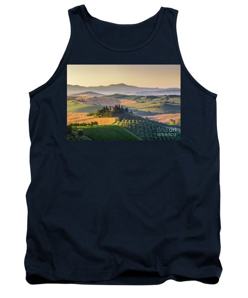 Sunrise In Tuscany Tank Top by JR Photography