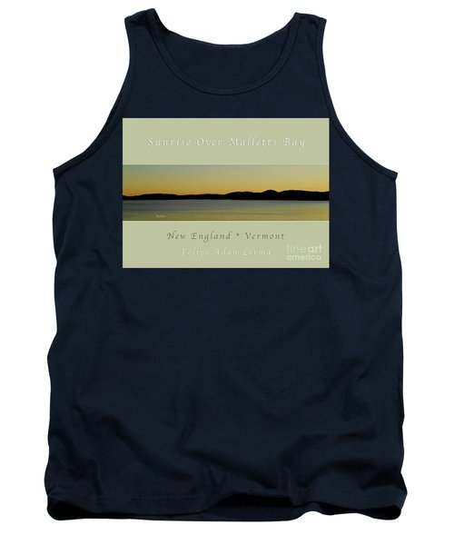 Sunrise Over Malletts Bay Greeting Card And Poster - Six V4 Tank Top