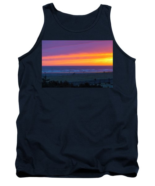 Sunset At Long Beach Washington Tank Top