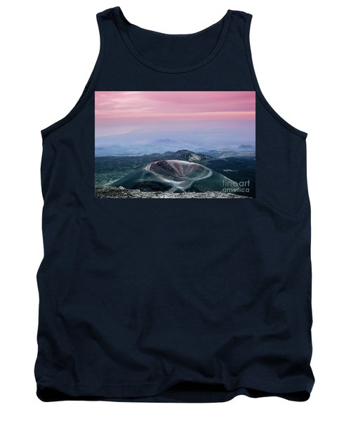 Sunset From The Top Of The Etna Tank Top