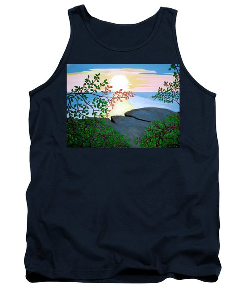 Tank Top featuring the painting Sunset In Jamaica by Stephanie Moore