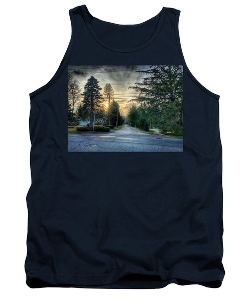 Sunset On Hilltop Drive Tank Top