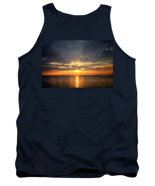 Sunset On Lake Hartwell Tank Top