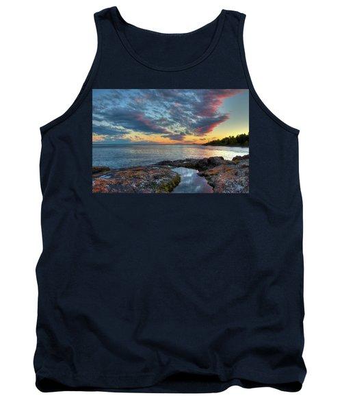 Sunset On Lake Superior Tank Top