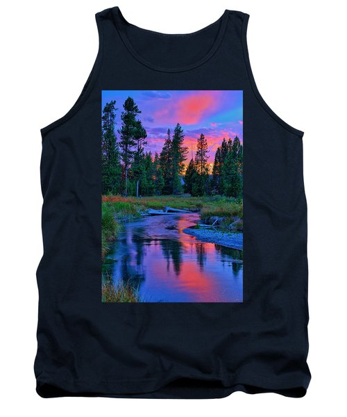 Tank Top featuring the photograph Sunset On Lucky Dog Creek by Greg Norrell