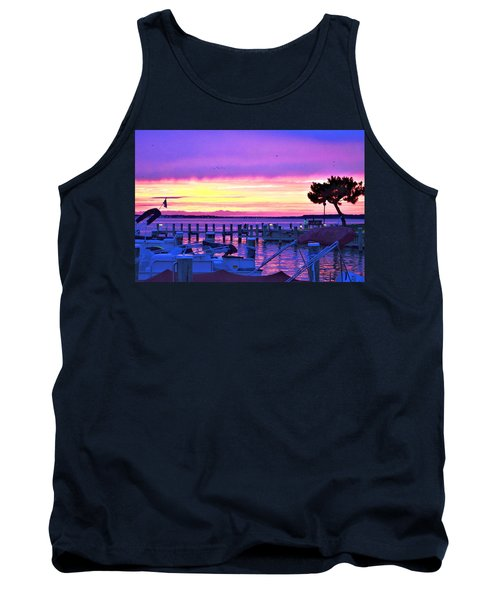 Sunset On The Docks Tank Top