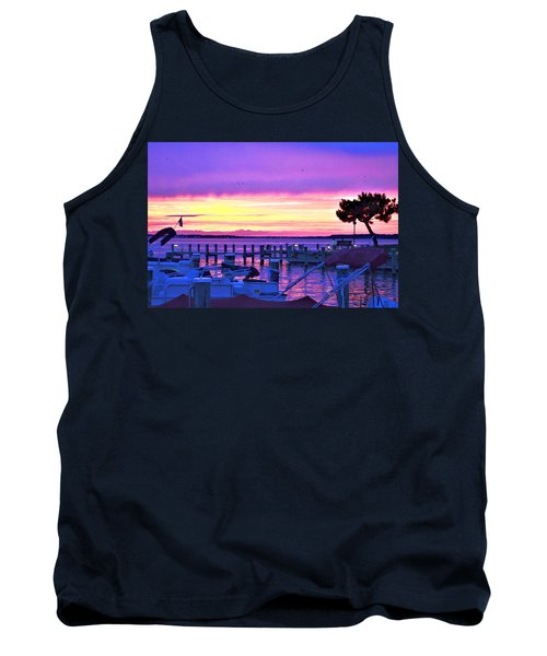 Sunset On The Docks Tank Top