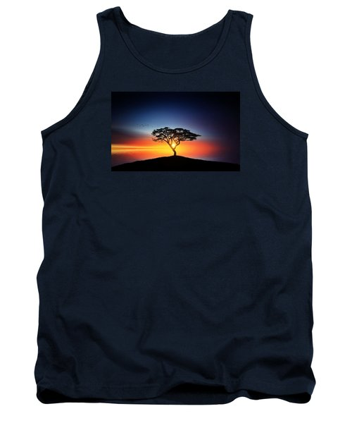 Sunset On The Tree Tank Top