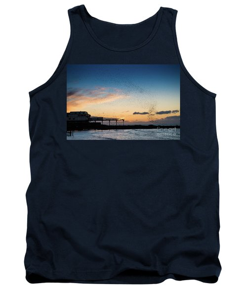 Sunset Over Aberystwyth Pier Tank Top