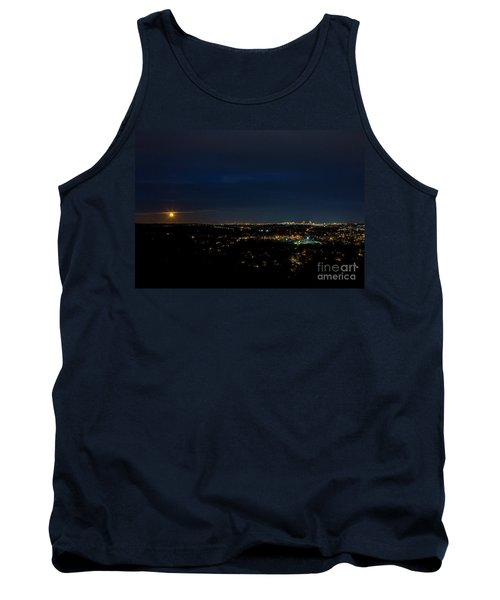 Super Moon 2016 Rises Over Boston Massachusetts Tank Top by Diane Diederich