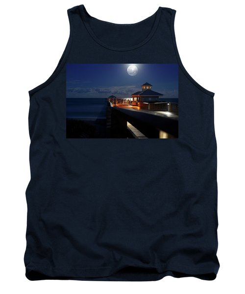 Super Moon At Juno Pier Tank Top