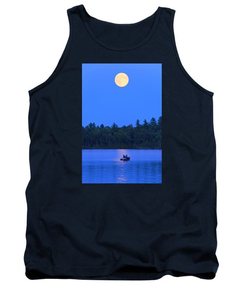 Super Moon At The Lake Tank Top
