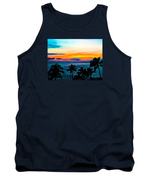 Surreal Sunset Tank Top by Russell Keating
