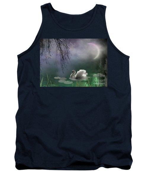 Swan By Moonlight Tank Top