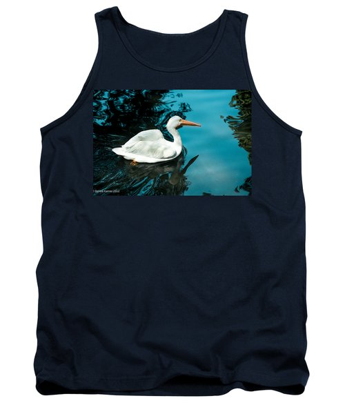 Tank Top featuring the photograph Swan Lake by Debbie Karnes